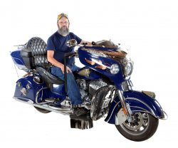 Roger Baggs & His 2014 Indian Chieftain