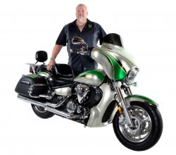 "Todd Ashe & His 2008 Yamaha V Star 1300 ""Monster Glide"""